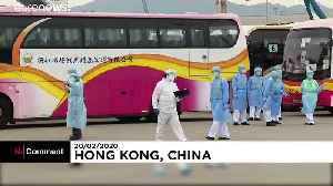Passengers from coronavirus-hit cruise ship arrive home in Hong Kong [Video]
