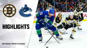 NHL Highlights | Bruins @ Canucks 2/22/2020 [Video]