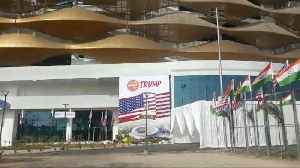 Sardar Patel Stadium at Ahmedabad decked up for Trump visit [Video]