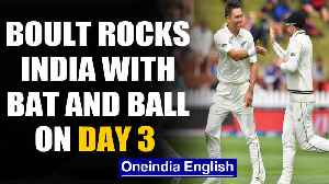 India vs New Zealand, 1st Test: Trent Boult rocks India's batting on Day 3 | OneIndia News [Video]