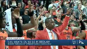 Pokes Roll Past Sooners in Bedlam 83-66 [Video]