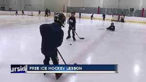 Kids get free hockey lessons [Video]