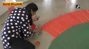 Namaste Trump Surat artists make unique 3D Motera Stadium rangoli [Video]