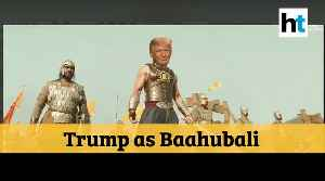 Watch: US President Trump shares morphed Baahubali video of himself ahead of visit [Video]