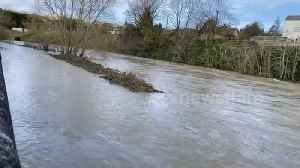 River Severn bursts banks in Mid Wales after weeks of heavy rain [Video]