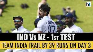 India vs New Zealand | 1st Test update: Men in Blue trail by 39 runs on Day 3 [Video]