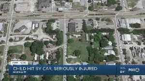 Child hit by car, seriously injured [Video]