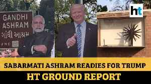 Heavy security, Modi-Trump banners: Sabarmati Gandhi Ashram prepares for visit [Video]