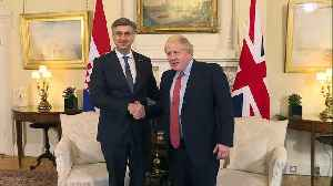 Boris Johnson holds bilateral talks with Croatian PM