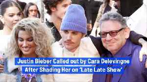 Justin Bieber Called out by Cara Delevingne After Shading Her on 'Late Late Show' [Video]