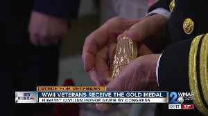 WWII veterans receive the gold medal, highest civilian honor given by congress [Video]