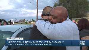 Deadly crash victim's father meets good Samaritan who held son in his final moments [Video]