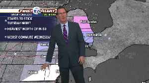 Clouds today, snow by Tuesday night [Video]