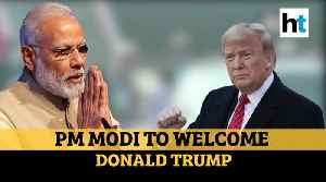 Donald Trump tweets in Hindi ahead of India visit; PM Modi reaches Ahmedabad [Video]