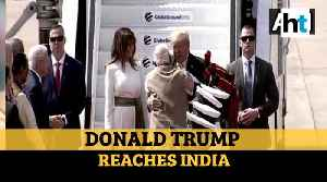 Watch: PM Modi welcomes Donald Trump to India with a hug [Video]