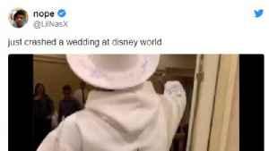 Lil Nas X crashed Disney World wedding [Video]