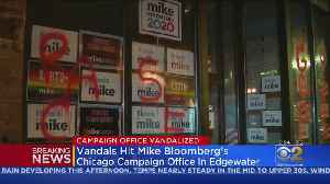 Mike Bloomberg's Edgewater Campaign Office Vandalized [Video]