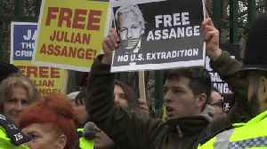 News video: Julian Assange supporters protest outside court ahead of extradition hearing