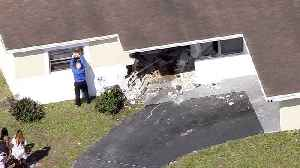 WEB EXTRA: Car Into Pompano Beach Home [Video]