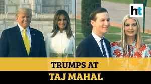 Watch: Donald & Melania Trump visit Taj Mahal, pose for cameras holding hands [Video]