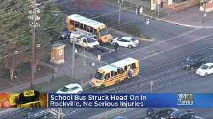 School Bus Struck Head On In Rockville, No Serious Injuries [Video]