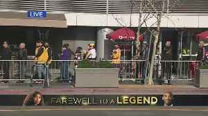 Fans Stream Into Staples Center For Kobe Bryant Memorial Service [Video]