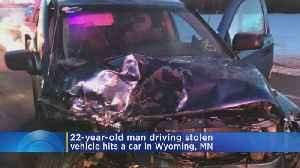Police: Man In Stolen Vehicle Seriously Injured After Causing Head-On Crash [Video]