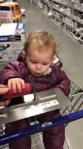 Little Girl Happily Makes Surprised Sound After Seeing Tools Inside Store [Video]