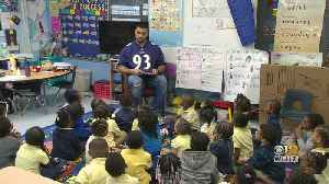 Ravens' Chris Wormley Stops By Career Day At Montebello Elementary Middle School [Video]