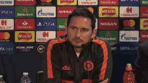 News video: Frank Lampard accepts Chelsea are seen as underdogs against Bayern Munich
