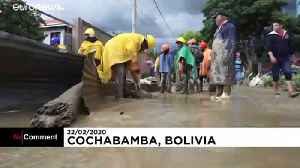 Bolivians clean up after river flood forces evacuation [Video]