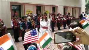 US First Lady Melania Trump's day out at Delhi school 'happiness class' [Video]