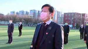 Chinese school live streams flag-raising ceremony online due to COVID-19 outbreak [Video]
