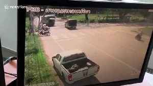 Eight injured including two children from roadside bomb in southern Thailand [Video]