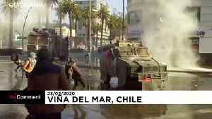 Chile protesters face off against police at Viña del Mar festival [Video]