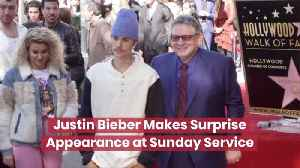 Justin Bieber Went To Sunday Service [Video]