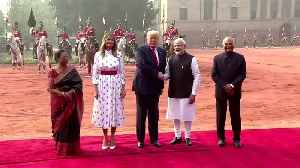 Horses and red carpet for Trump in New Delhi [Video]
