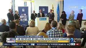 University of Baltimore receives $5 million scholarship grant for veterans, transfer students [Video]