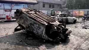 7 killed, 150 injured: Indian riots overshadow Trump visit [Video]