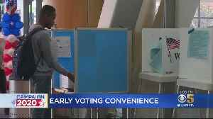 South Bay Voters Cast Early Primary Ballots At New Polling Centers [Video]