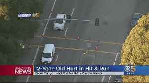 Castro Valley Hit And Run Leaves 12-Year-Old Girl With Life-Threatening Injuries [Video]