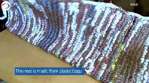 WEB EXTRA: Couple Makes Mats For Homeless Out Of Plastic Bags [Video]