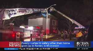 Family Escapes House Fire In Worcester [Video]