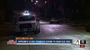 Officer saves child's life after drive-by shooting [Video]