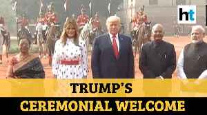 Watch: US President Trump receives ceremonial welcome, greeted with 21-gun salute [Video]