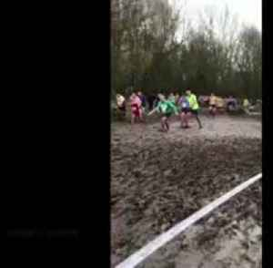 Run on mud: athletes battle with severe conditions in England