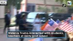 Melania Trump In Delhi Govt School [Video]