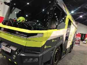 Electric firetruck at Firehouse World 2020 in Las Vegas [Video]