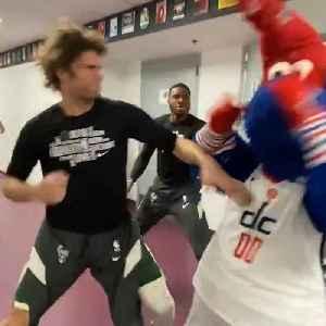Giannis Antetokounmpo attacks the Washington Wizards' mascot [Video]