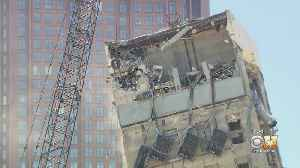 Wrecking Ball Questions & Jokes As Leaning Tower Of Dallas Demolition Continues [Video]